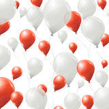 Red and white balloons background Stock Images
