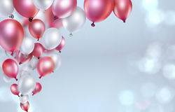 Red and white balloons Royalty Free Stock Photo