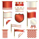 Red and white banners Stock Images