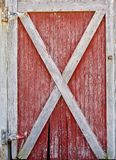 Red and White Barn Door stock photography