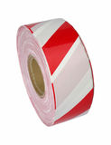 Red and white barrier tape Stock Image