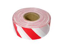Red and white barrier tape Royalty Free Stock Photos