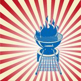 Red, White and BBQ Royalty Free Stock Image