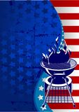 Red, White and BBQ Stock Image