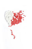 Red and white beads Royalty Free Stock Photo