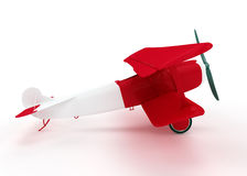 Red and white biplane Royalty Free Stock Images