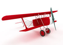 Red and white biplane Royalty Free Stock Image