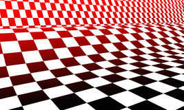Red white and black checkerboard Royalty Free Stock Photography