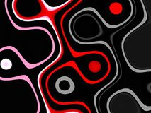 Red white black orange geometries, abstract vivid background, abstract texture stock illustration