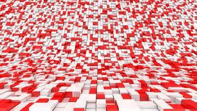 Red white blocks. Surface abstract vector illustration