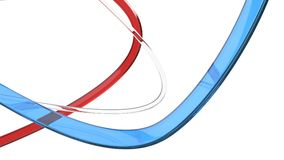 Red white and blue abstract flow forms. On white background Stock Photography