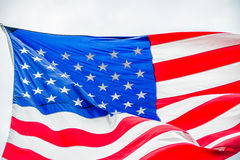 Red white and blue american flag Stock Images