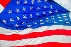 Red white and blue american flag Stock Photos