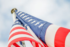 Red white and blue american flag Stock Image