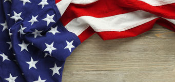 Red, white, and blue American flag Royalty Free Stock Photo