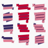 Red white blue american flag, ribbons and banners Royalty Free Stock Image