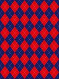 Red White and Blue Argyle. Pattern Stock Photos