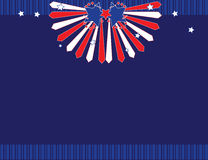 Red white blue background. With open blue space in the middle Royalty Free Illustration