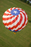 Red white and blue balloon. Aerial view of red white and blue hot air balloon Royalty Free Stock Image
