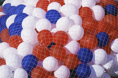 Red, white, and blue balloons Royalty Free Stock Images
