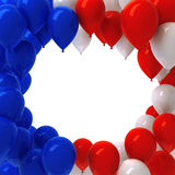 Red, white, and blue balloons. Background Royalty Free Stock Images
