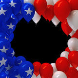 Red, white, and blue balloons. Background Royalty Free Stock Photography