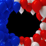 Red, white, and blue balloons. Background Royalty Free Stock Photos