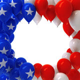 Red, white, and blue balloons. Background Stock Photography