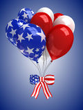 Red, white, and blue balloons. Background Royalty Free Stock Photo