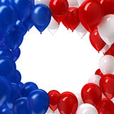 Red, white, and blue balloons background Stock Photos