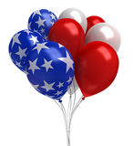 Red, white, and blue balloons. Isolated on white Royalty Free Stock Image