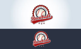 Red, white and blue, baseball logo sports bar. Illustration Royalty Free Stock Images