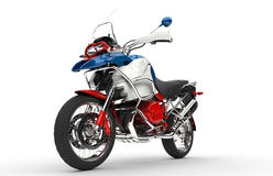 Red White and Blue Bike Stock Photography