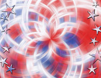Red, white & blue blur Stock Image