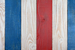 Red White and Blue Boards Background. Patriotic Background for 4th of July or Memorial Day projects Royalty Free Stock Photo