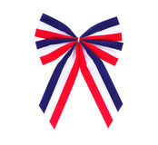 Red, White and Blue Bow Royalty Free Stock Images