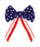 Red white and blue bow Royalty Free Stock Image