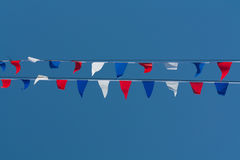 Red, White and Blue Bunting Stock Photography