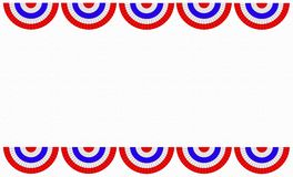 Red white and blue bunting border Stock Image
