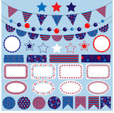 Red white blue bunting clipart Stock Photography