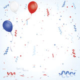Red white and blue celebration Stock Images
