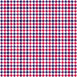 Red white blue check twill plaid. Background Stock Image