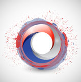 Red white and blue circle color illustration Stock Photos