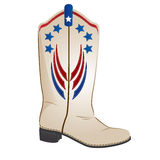 Red white blue cowboy boot Stock Image