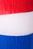 Red white and blue crepe paper Stock Images