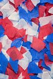 Red, White and Blue Crepe Paper Stock Image