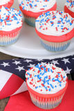Patriotic Cupcakes royalty free stock images