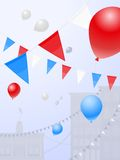 Red white and blue festival Royalty Free Stock Photo