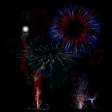 Red, White, Blue Firework Background Royalty Free Stock Image