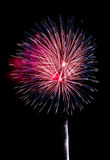 Red, White and Blue Fireworks Stock Photography